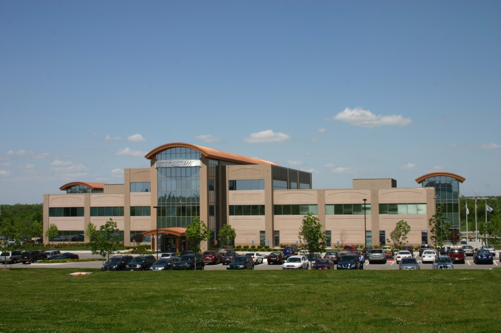 This building uses two colors of precast - each with a sandblast finish