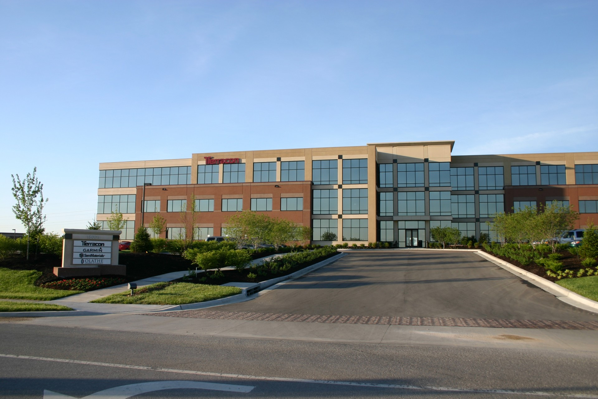 office building architecture design. Wonderful Design Opus 2 Building In Lenexa This Building Has Buff And Red Panels Each Color Intended Office Architecture Design
