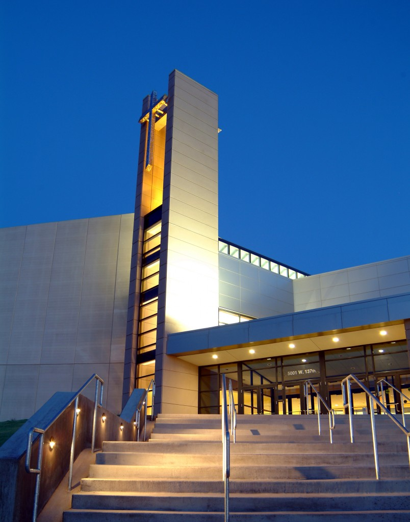 COR used two panels colors and a unique form liner for the main building